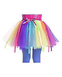 Kids Long Neon Rainbow Tutu