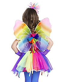 Kids Neon Rainbow Wings