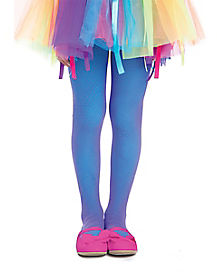 Kids Neon Rainbow Tights