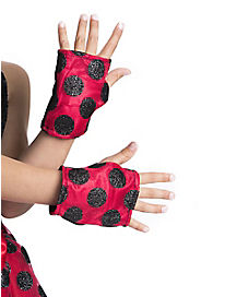 Red Sequin Kids Gloves