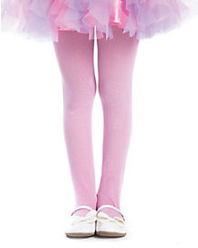 Kids Pink Glitter Tights