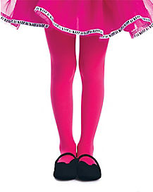 Kids Pink Zebra Glitter Tights