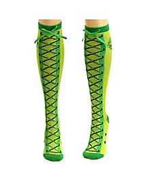 Lace Up Knee High Socks- TMNT