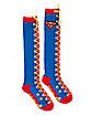 Lace Up Superman Knee High Socks - DC Comics