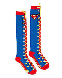 Superman Laceup Knee Highs