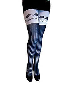 Printed Jack Skellington Tights - Nightmare Before Christmas