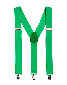 Green St. Patrick's Day Suspenders