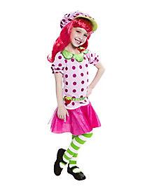 Kids Pink Strawberry Shortcake Costume - Strawberry Costume