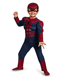 Toddler Muscle Spiderman Jumpsuit Costume - Marvel Comics