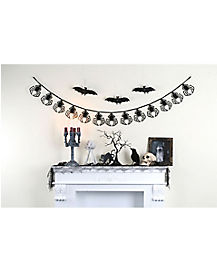 6.5 ft Black Spider Garland - Decorations