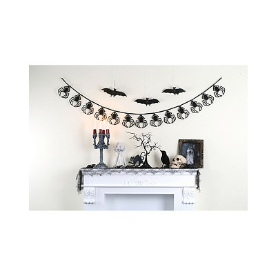6.5' Black Spider Garland