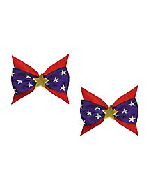 Red White and Blue Star Bow
