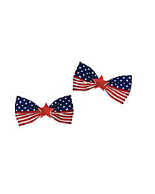 Stars and Stripes America Hair Bows