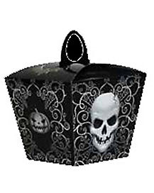 Skull Pumpkin Treat Bag
