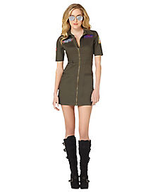 Adult Top Gun Dress Costume - Top Gun