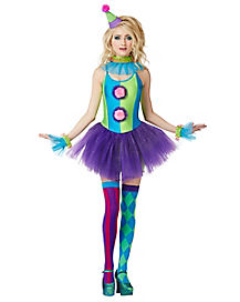 Trixy the Clown Adult Womens Costume