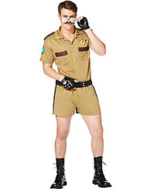 Adult Sergeant Short Pants Cop Costume