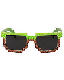 Green and Brown Pixel Glasses