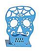 Blue Sugar Skull Tealight Holder