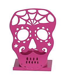 Fuchsia Skull Tealight Holder