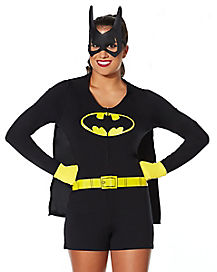 Batgirl Caped Adult Romper