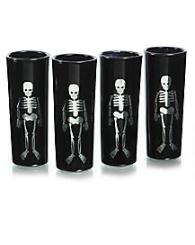 4 Pack Black Shot Glasses