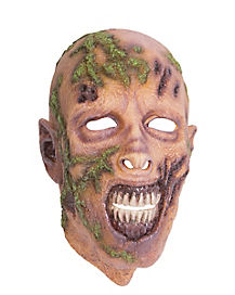 Full Mask Moss Zombie Mask - The Walking Dead