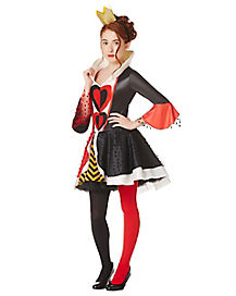 Red and Black Queen of Hearts Girls Costume
