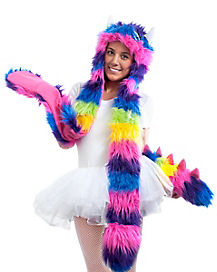 Rainbow Monster Snood and Tail