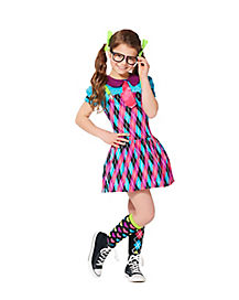 School Nerd Alert Girls Costume