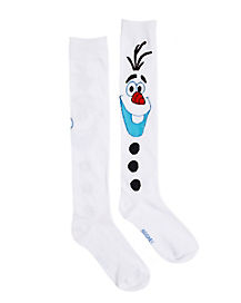 White Olaf Knee High Socks - Frozen