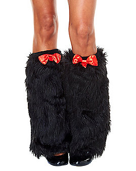 Cat in the Hat Furry Leg Warmers - Dr. Seuss