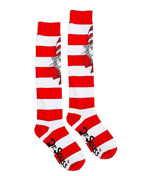 Dr Seuss Cat In The Hat Adult Costume Socks