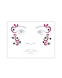 Kids Zebra Fairy Face Tattoo Decal