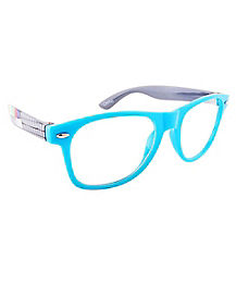 Turquoise Graphic Arm Glasses