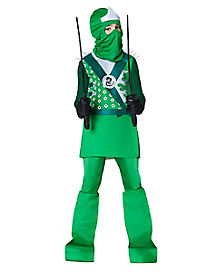 Kids Green Fighter Ninja Costume