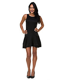 Black Ruffle Dress Womens Costume