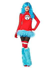 Adult Thing 1 Dress Costume - Dr. Seuss