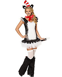 Adult Cat in the Hat Dress Costume - Dr Seuss