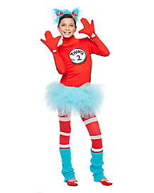 Tween Thing 1 and 2 Tutu Costume - Dr Seuss