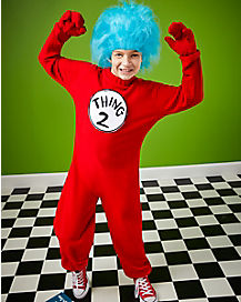Kids Thing 1 and Thing 2 Costume -Dr Seuss