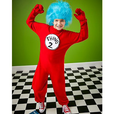 Thing 1 and Thing 2 Boys Costume