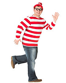 Where's Waldo Adult Mens Plus Size Costume