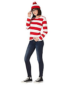 Adult Wenda Costume- Where's Waldo