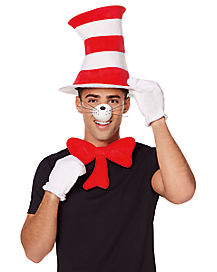 Cat in the Hat Costume Kit Deluxe - Dr Seuss