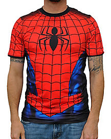 Sublimated Spiderman T-Shirt- Marvel Comics