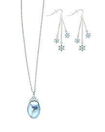 Frozen Elsa Deluxe Necklace and Earrings