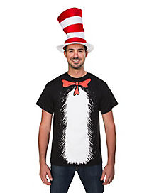Adult Cat in the Hat T-Shirt - Dr. Seuss