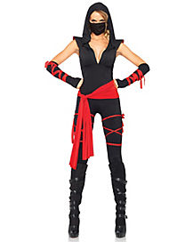 Adult Deadly Ninja Jumpsuit Costume