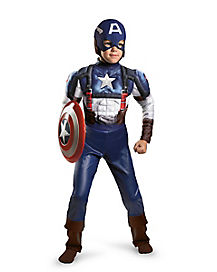 Kids Muscle Captain America Costume - Marvel